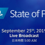 SONY 「State of Play」 第3回が9/25放送決定!何が発表されるのか?